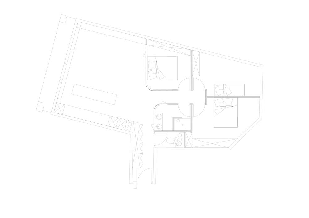 Plan agencement appartement passage Thiéré à Paris